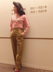Ladies Heavy ChinoCloth Ranch Pants【SVY-LPT018P】 / Savoy Clothing